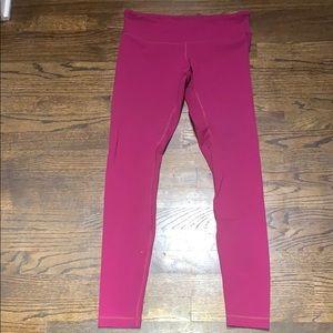 Fuchsia Lululemon leggings in size 10